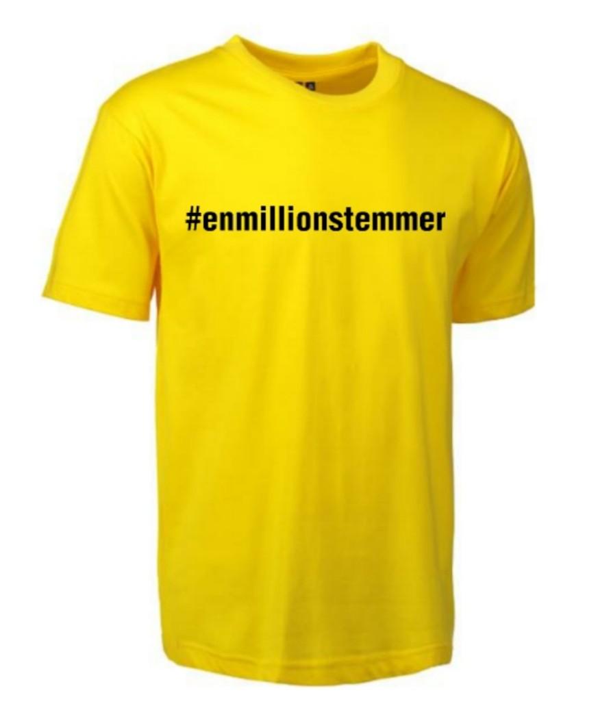 #Enmillionstemmer - T-shirt Unisex