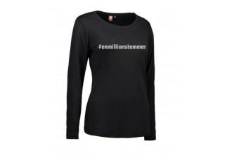 #Enmillionstemmer - T-shirt langærmet dame