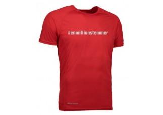 Løbe T-shirt Unisex - #Enmillionstemmer