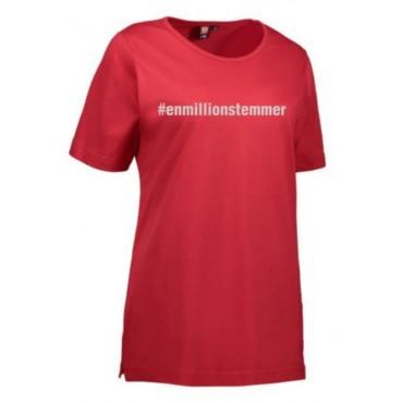 #Enmillionstemmer - T-shirt Dame