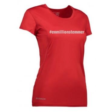 Løbe T-shirt Dame - #Enmillionstemmer