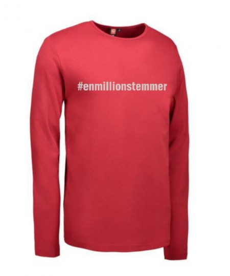 #Enmillionstemmer - T-shirt langærmet Unisex